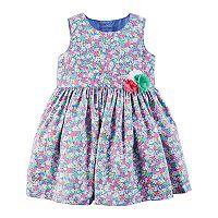 Baby Girl Carter's Floral Rosette Dress