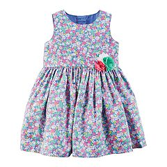 Baby Girl Carter's Floral Rosette Dress