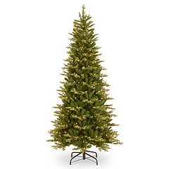 National Tree Company 7.5-ft. Pre-Lit Glen Ridge Spruce Slim Artificial Christmas Tree