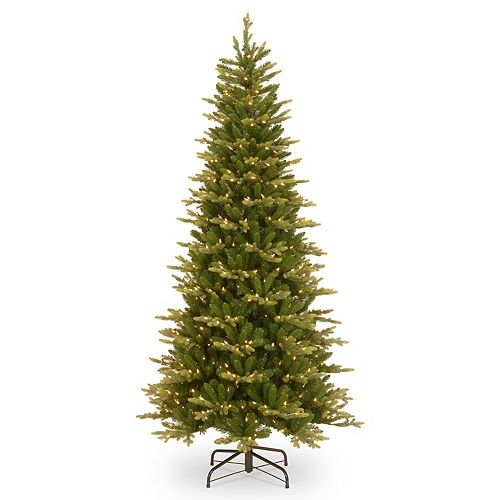 National Tree Company 7.5-ft. Pre-Lit Glen Ridge Spruce Slim Artificial Christmas Tree