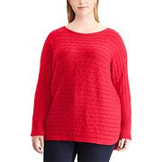 Plus Size Chaps Cable Knit Sweater
