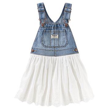Toddler Girl OshKosh B'gosh® Eyelet & Denim Jumper