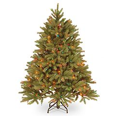 National Tree Company 4.5-ft. Multicolored Pre-Lit Jersey Fraser Fir Artificial Christmas Tree