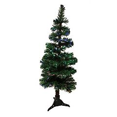 4-ft. Pre-Lit Fiber Optic Spiral Pine Artificial Christmas Tree
