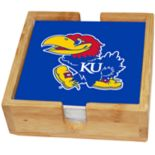 Kansas Jayhawks Ceramic Coaster Set