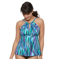 Women's Trimshaper Aria Bust Minimizer High-Neck Tankini Top