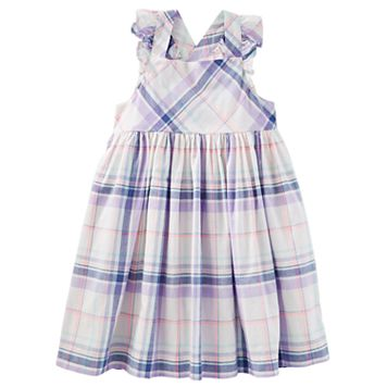Toddler Girl OshKosh B'gosh® Cross-Back Plaid Dress