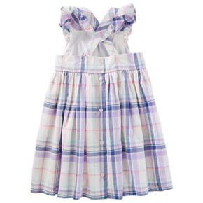Toddler Girl OshKosh B'gosh® Cross-Back Plaid Dress