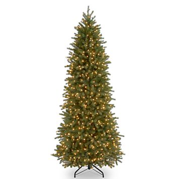 National Tree Company 6.5-ft. Clear Pre-Lit Jersey Fraser Fir Pencil Slim Artificial Christmas Tree