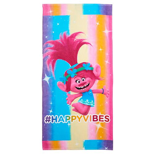 DreamWorks Trolls Poppy Happy Vibes Beach Towel