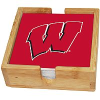 Wisconsin Badgers Ceramic Coaster Set