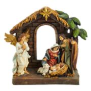 Kurt Adler Holy Family & Angel Christmas Table Decor