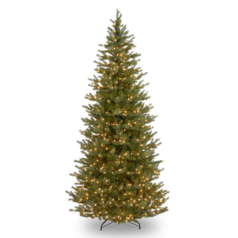 national tree company 75 ft pre lit norway spruce slim artificial christmas tree - Christmas Tree Company