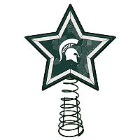 Michigan State Spartans Mosaic Christmas Tree Topper