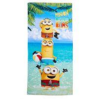 Minions Beach Bums Beach Towel