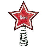 Nebraska Cornhuskers Mosaic Christmas Tree Topper