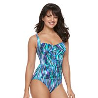 Women's Trimshaper Averi Tummy Slimming Crossover One-Piece Swimsuit