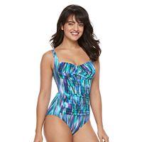 Women's Trimshaper Averi Tummy Slimming Crossover One-Piece Swimsuit