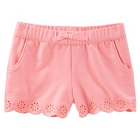 Toddler Girl OshKosh B'gosh® Pull-On Eyelet Shorts