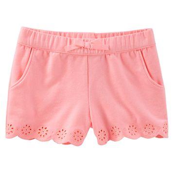 Toddler Girl OshKosh B'gosh® Pull-On Eyelet Shorts