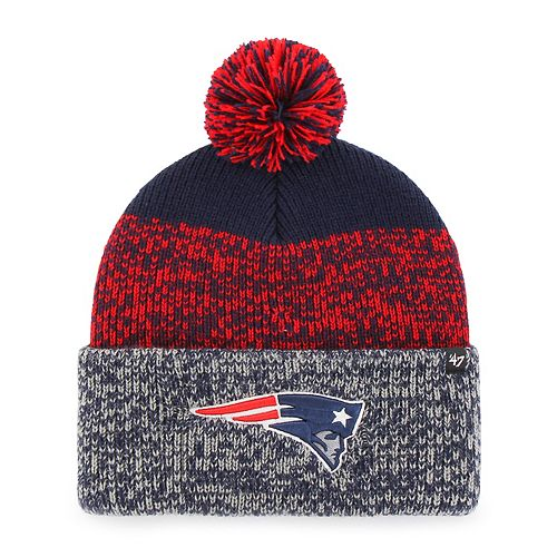 Adult '47 Brand New England Patriots Static Beanie