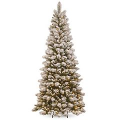 National Tree Company 7.5-ft. Pre-Lit Snowy Westwood Pine Slim Artificial Christmas Tree