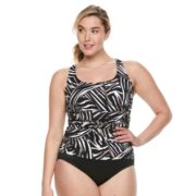 Plus Size Trimshaper Debbie Tummy Slimmer Ruched One-Piece Swimsuit