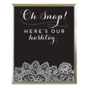 "Sheffield Home ""Our Hashtag"" Chalkboard Wedding Wall Decor"