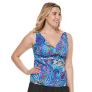 Plus Size Trimshaper Katie Bust Enhancer Tankini Top