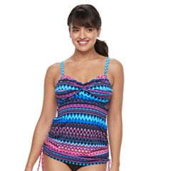 Women's Trimshaper Brandy Waist Minimizer Twist-Front Tankini Top