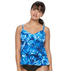 Women's Trimshaper Rylee Bust Enhancer Tiered Tankini Top