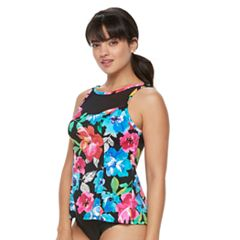 Women's Trimshaper Olivia Bust Enhancer High-Neck Tankini Top