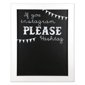 "Sheffield Home ""Hashtag"" Chalkboard Wedding Table Decor"