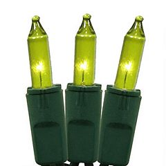 50 Chartreuse Green Indoor / Outdoor Mini Christmas Lights