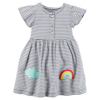 Baby Girl Carter's Striped Rainbow Dress