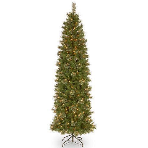 National Tree Company 6.5-ft. Pre-Lit Tacoma Pine Pencil Slim Artificial Christmas Tree