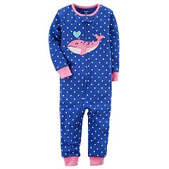 Toddler Girl Carter's Whale Dotted Footless Pajamas