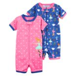 Toddler Girl Carter's 2-pack Ballerina Rompers