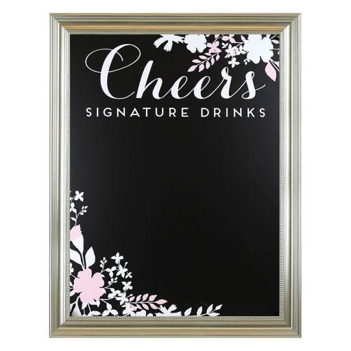 "Sheffield Home ""Cheers"" Chalkboard Wedding Wall Decor"