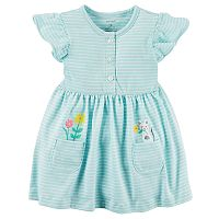 Baby Girl Carter's Striped Dress & Bloomer Set