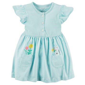 Baby Girl Carter's Striped Dress & Bloomer Set