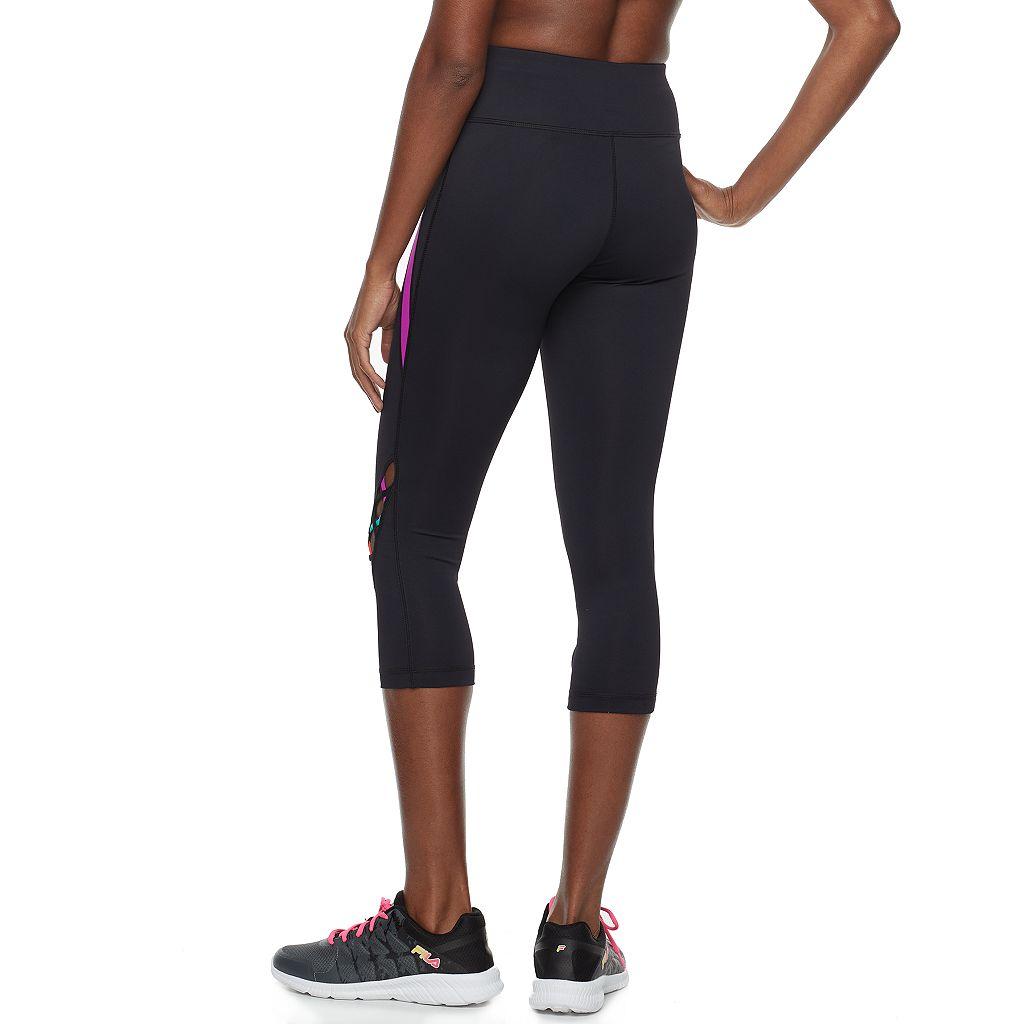 Women's FILA SPORT® Strappy High-Waisted Capri Leggings