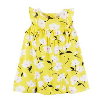Baby Girl Carter's Floral Ruffle Sleeve Dress
