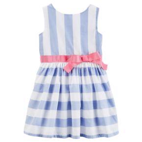 Toddler Girl Carter's Sleeveless Striped Dress