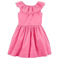 Toddler Girl Carter's Eyelet Ruffle Dress