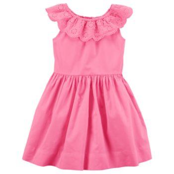 Toddler Girl Carter's Eyelet Ruffle Dress