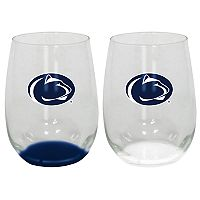 Penn State Nittany Lions 2-Pack Stemless Wine Glass Set