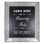 Sheffield Home 'Vows Here' Wedding Table Decor
