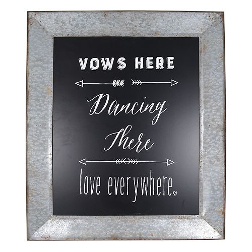 """Sheffield Home """"Vows Here"""" Wedding Table Decor"""