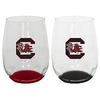 USC Trojans 2-Pack Stemless Wine Glass Set